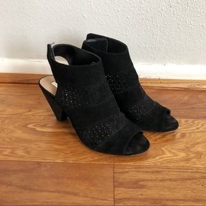 Audrey Brooke Black Velcro Strap Sandal Shoe